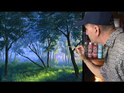 Painting Fog With Sunlight In Acrylics Watch Art Video