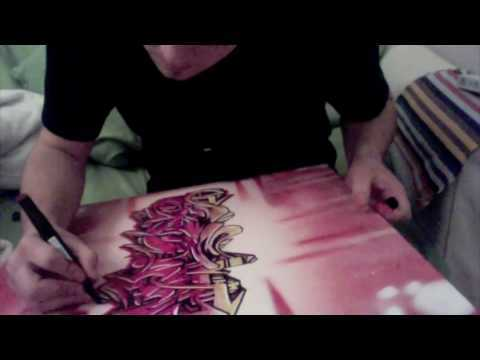 Exclusive Wildstyle Graffiti On Canvas