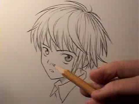 Mark Crilley: How To Draw Boy's Hair On A Manga cartoon Character