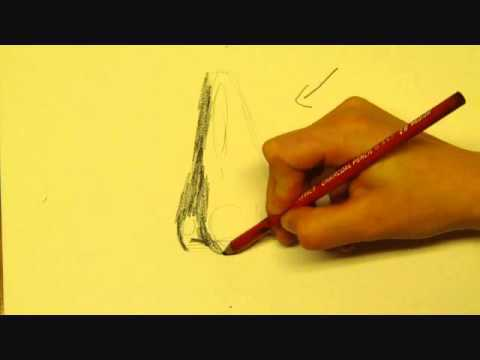 How To Draw A Nose In Charcoal Pencil For Beginners