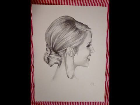 how to draw realistic hair in pencil watch art video