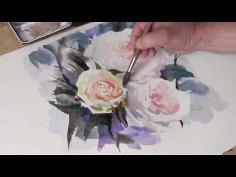 Trevor Waugh: How To Paint White Roses In Watercolor