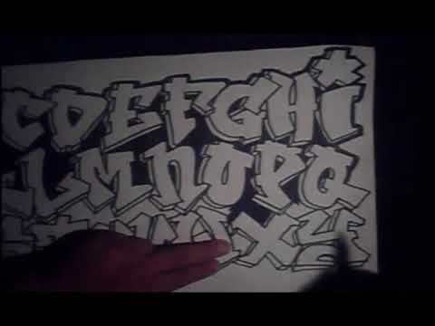 Drawing The Grafitti Alphabet In Pen