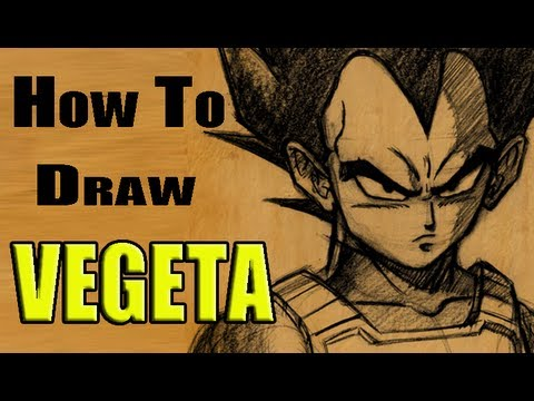 Evan Burse: How To Draw Prince Vegeta Manga Character In Pencil