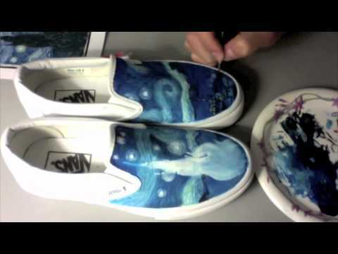 EnHaoKicks: Custom Painted Starry Night Vans