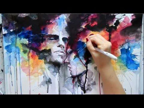 A Time Lapsed Speed Painting Titled 'Our Endless Abnegation'