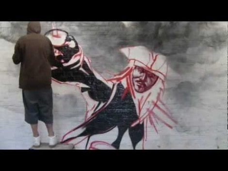 Live Graffiti Performance Of Jonny Depp From Pirates Of The Carribean