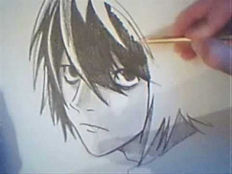 How To Draw 'L' From 'Death Note' In Pencil
