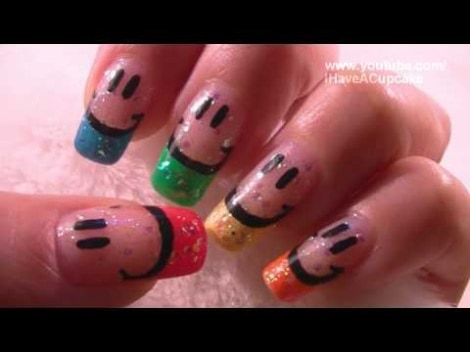 Customised Smiley Face Nail Art Tutorial