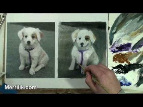 Learning Oil Painting: How To Paint A Puppy Dog