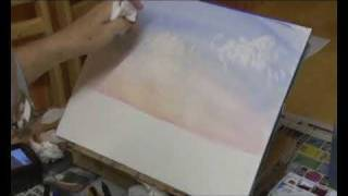 Painting Clouds In Watercolors Using Rough Brush Technique