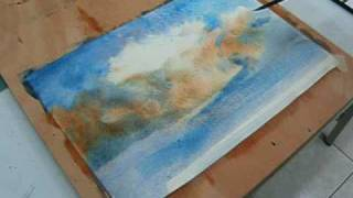 Painting Clouds In Watercolors