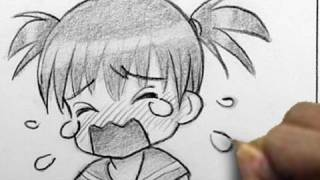 Drawing An Anime Girl Crying