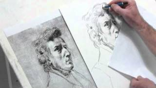 Paul Barton: Free Hand Drawing Of Delacroix's Drawing Of Chopin