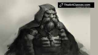 How To Draw A Detailed Dwarf (Warhammer)
