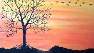 How To Draw A Sunset In Chalk Pastels