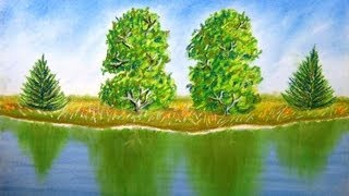 How To Draw Trees In Reflecting Water For Beginners And Intermediates