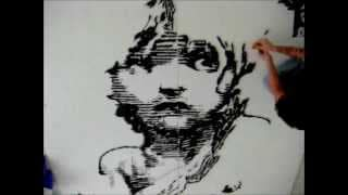 Les Mis Bic® Cristal® ART using 6,777 pen parts