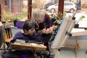 Art Therapy. Easel For People Living With A Disability