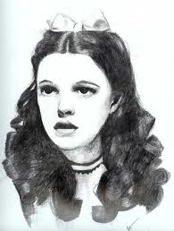 Judy Garland Speed Drawing (Over The Rainbow)