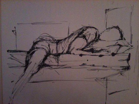 Life Drawings In Charcoal: Fanny Gogh