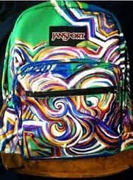 Custom Painted Backpack