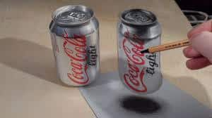 Anamorphic Illusions – Drawing a Coca Cola Can