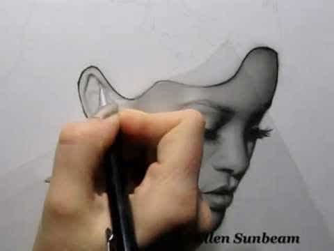 Rihanna Speed Drawing: Ellen Sunbeam